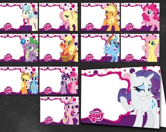24 My Little Pony, My Little Pony Labels, Print Your Own, My Little Pony food labels, different designs
