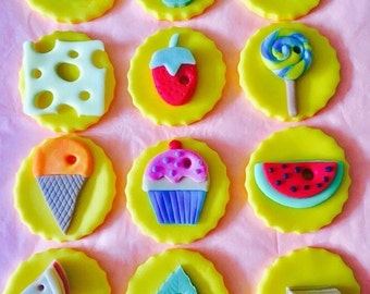 Hungry Caterpillar #2 Cupcake Toppers