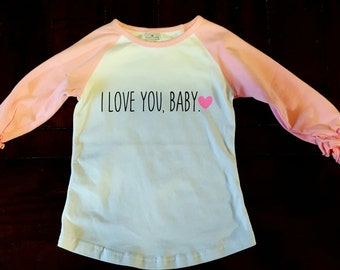 Toddler girl ruffle shirt