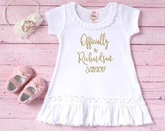 Adoption day outfit - Gotcha Day shirt - Adoption keepsake shirt - Personalized adoption shirt New last name shirt Court day adoption outfit