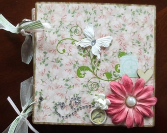 Birds And Flowers - 6X6 Chipboard Album