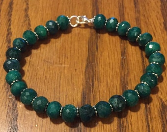 Natural Emerald Bracelet May Birthstone