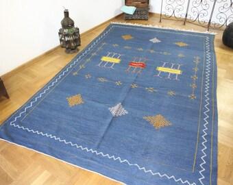 Alfombra marroqu bereber kilim alfombra anudada mano marroqu for Alfombra kilim precio