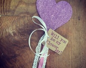 Heart magic wand glitter heart wand fairy wand wedding wedding gift flower girl gift bridesmaid gift flower girl wedding accessories