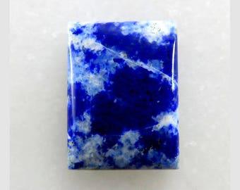 Lazulite 27X20X5mm Rectangle Shape Gorgeous Loose Gemstone Cabochon Gemstone For Jewellery Making 28Cts B-10205