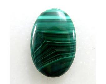 100% Natural Malachite 21X31X5mm Oval Shape Malachite Loose Gemstone Cabochon Malachite Gemstone For Jewellery Making 38Cts B-10610