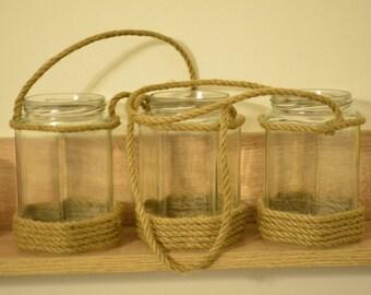 Upcycled candle lantern / wedding lanterns / rustic lanterns / rustic home decor / beach wedding / wedding centerpiece / nautical wedding