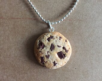 Scented Chocolate Chip Cookie Necklace Pendant *Polymer clay*