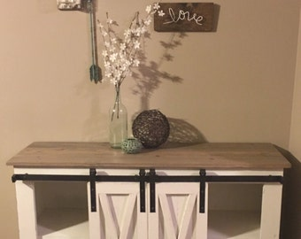 Barndoor Console Table