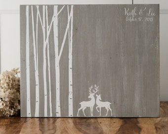 Wedding guest book - weddings - wood guestbook - wedding decor