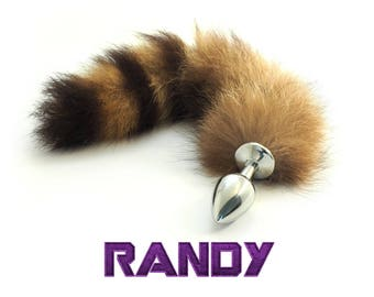 Randy the Raccoon - Tail Butt Plug Anal Toy