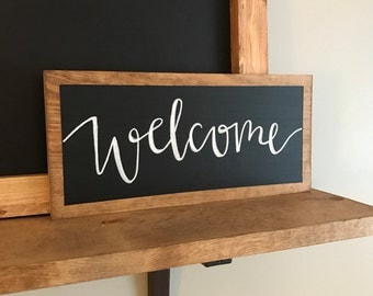 Welcome Chalkboard - Welcome Sign