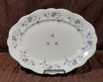 Johann Haviland China large serving platter, Blue Garland, free shipping