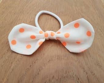 Summer Spots Medium Knot bow Hair Elastics (ponytail holder)