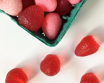 Basket O' SOAP Berries, Strawberry soap, Kids soap, Fun soap, Cute Soap, Kids gift, Guest soap, Mothers day, Stocking Stuffer, Picnic party