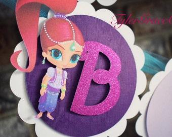 Shimmer & Shine Birthday Banner, Genie Banner, Princess Banner