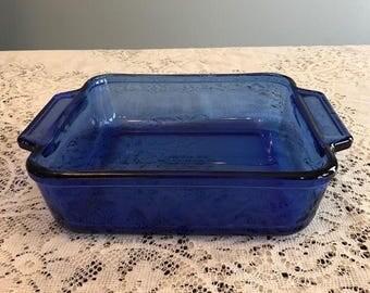 Anchor Hocking Cobalt Blue 8 inch Square Baking Dish