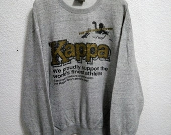 Sale Vintage Kappa Sweatshirt Grey Colour