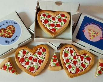 """5 """"You Have A Pizza My Heart"""" Valentine's Cookies"""