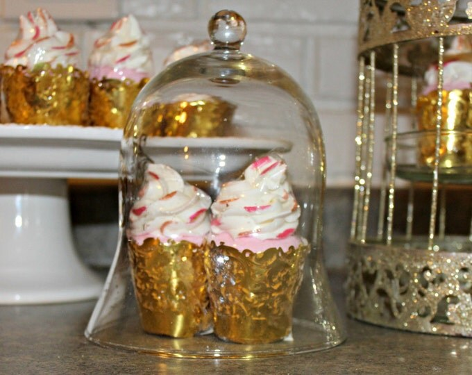 Mini Bath Bomb: Pink Sugar Vanilla  cupcake bubble bath bomb