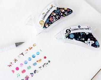 Deco Tape pen, Decorative Correction Tape, Stationary Tape, pen tape, marking pen, Cute Kawaii tape pen, notepad,photo album decoration,1pcs