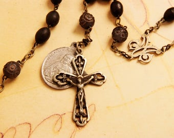 Black Victorian Antique Rosary