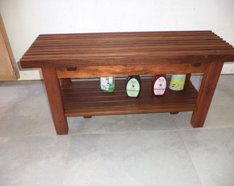 Bench with shelf