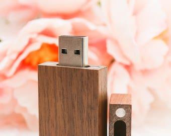 Handmade Walnut wood 16gb flash drive - USB / flash drives / jump drive / Engravable
