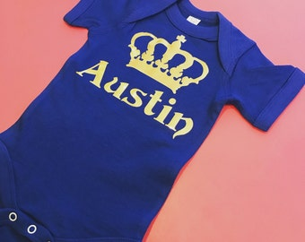 Baby boy royal onesie baby boy prince king onesie