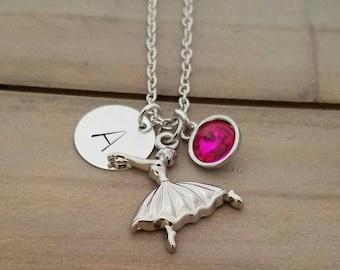 Ballet Dancer Necklace, Ballerina Necklace, Personalized Ballerina Jewelry, Ballerina Charm Necklace, Ballet Dancer Necklace, Bff Gift