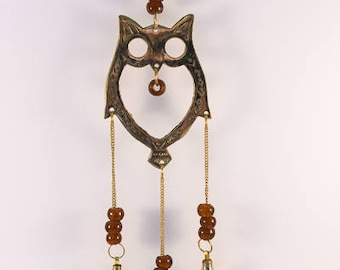 Charming Hanging Owl with Bells.