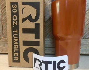 Custom Powder Coated Penny Copper RTIC 30oz Tumbler