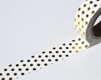 Gold Foil Spots Washi Masking Paper Tape.