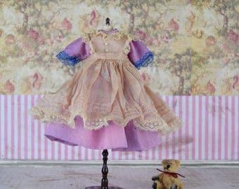 Pullip Blythe Doll PINAFORE Sheer Organdy Apron Custom OOAK Many Colors