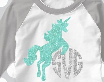 Unicorn svg, Unicorn monogram svg, Birthday SVG, DXF, EPS, Easy to make, cut file, girls Birthday svg, monogram svg, Mermaid svg, party, eps