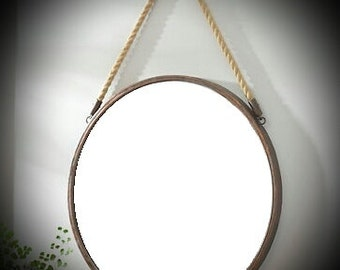 Mirror / Metal Mirror / Round Mirror / Round Wall Mirror / Port Hole Mirror / Rustic Mirror / Wrought Iron Mirror / Port Hole Mirror