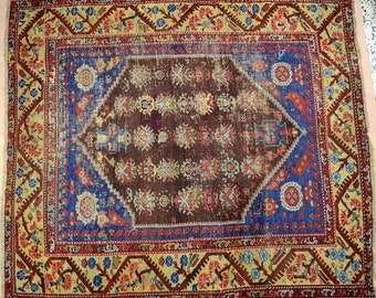 Antique Turkish Kumburgiu Kula Rug