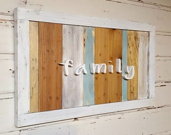 Family Sign with Cutout letters