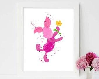 Winnie the Pooh, winnie the pooh disney, winnie pooh, winnie the pooh watercolour, winnie the pooh prints, piglet, piglet disney, disney