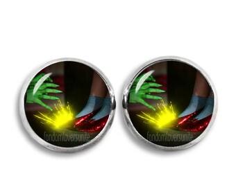 Ruby Slippers Stud Earrings Dorothy Wizard of Oz Earrings 12mm  Fandom Jewelry Geeky Fangirl Fanboy