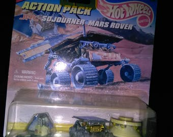Vintage Mission To Mars Hot Wheels Action Pack Mattel 16145 JPL Sojourner MARS ROVER ****1990's***