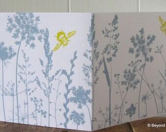 Original ' Wild flower' screen printed card