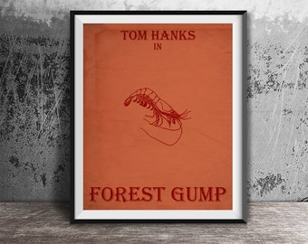 Movie poster print,Forest Gump-alternative poster printable,Alternative film poster,Minimalistic movie art,Instant Download,Printables