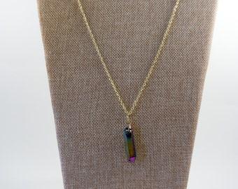 Multi-Colored Rock Pendant Necklace