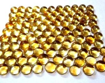 10 pieces 4mm CITRINE Round Cabochon Gemstone - Citrine Cabochon Round - Natural Citrine round cabochon loose gemstone - AAA++ Quality Gems