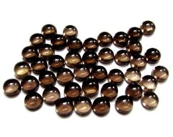 25 pieces 6mm Smoky Cabochon Round Loose Gemstone, 6mm Smoky Round Cabochon Loose Gemstone, AAA Quality smoky cabochon round Loose Gemstone