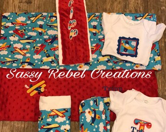 Minky Baby blanket set
