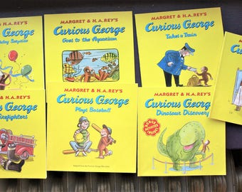 Lot of 7 Curious George Children's Books