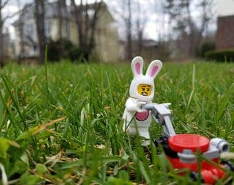 Lego Photography - Lawnmower Bunny