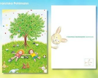 "Postcard ""Bunny heaven"""